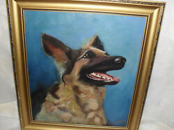 Gefordand039s Best Freind Oil On Canvas Painting Signed Geford
