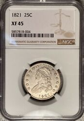 1821 Capped Bust Quarter Ngc Xf45 — Great Type Coin