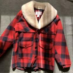 Filson Fur Lined Packer Coat Jacket Red Plaid 24oz Wool Menand039s 38 From Japan