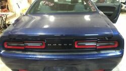 Trunk/hatch/tailgate Without Spoiler Fits 15-17 Challenger Blue 2196903