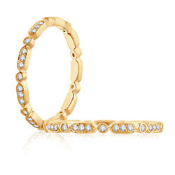 Real 1.00 Ct Diamond Engagement Full Eternity Band 14k Yellow Gold 7 6 5 4 Sale