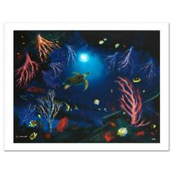 Coral Reef Garden Limited Edition Giclee On Canvas By