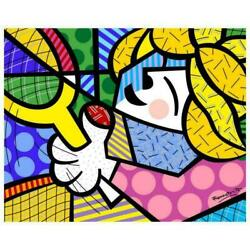 Romero Britto Tennis Pro Hand Signed Giclee On Canvas