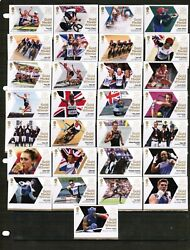Great Britain 2012 Olympic Games Set Of 29 1st Class Stamps @ Less Than Face Val