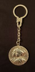Vintage Keychain medal 75 Year's Anniversary Palace Hotel Madrid Silver 925.