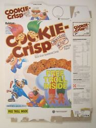 1991 Mt Cereal Box Ralston Cookie Crisp Troll Hair On Back [y156h7]