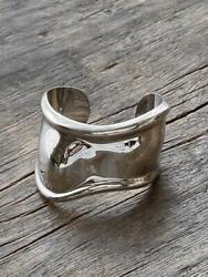And Co. Ladies Silver Bangle Hand Cuff Right 1978 Genuine F/s From Japan