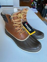 Sperry Top-sider Cold Bay Brown Leather Waterproof Boots Mens 10m New With Tags