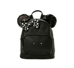 NEW Disney Minnie Mouse Mini Backpack Purse Bag in Black $28.48