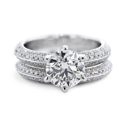 Real 14k White Gold Diamond Solitaire 1.60 Ct Engagement Rings 5 6 7 8 Sale