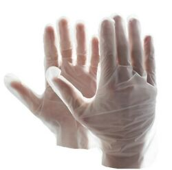 Food Service Clear And Blue - 2 Mil Vinal Poly Plastic Gloves Safety S/m/l/xl
