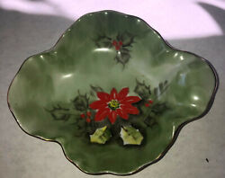 Vintage Green Lefton China Limited Edition Hand Painted Bowl-dish