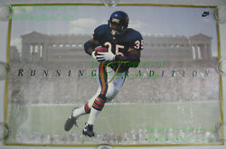 Nitf Nike Poster ☆running Tradition ☆ Neal Anderson Chicago Bears Soldier Field