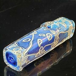 4 Glass Pipe Steamroller Style Square Collectible Smoking Bowl Heavy Glass Pipe