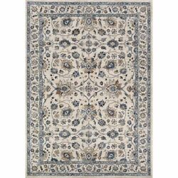 Monarch 5and0393w X 7and0396l Power-loomed Kerman Vase Area Rug In Antique Cream/slate