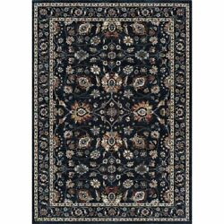 Monarch 5and0393w X 7and0396l Power-loomed Kerman Vase Area Rug In Navy