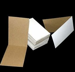 50 Flat Cardboard Vending Sleeves 4 Sports Cards,pokemon Cards,stickers [3x4.5]