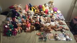 Ty Beanie Collection 91 Items Non Smoking Home Been In Containers For 21yrs