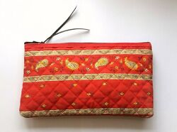 Les Olivades Provence Quilted Zippered Case/clutch/pouch Made In France