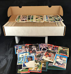 Baseball Card Lot Box Full Topps And Other Brands Mixed Un-searched Junk Drawer