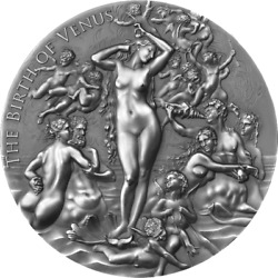 Cameroon 2021 - Celestial Beauty - Birth Of Venus - 2000 Francs Silver Coin 2 Oz