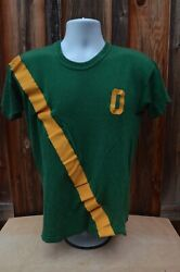 Vintage 70s Oregon Ducks Track Field Prefontaine Shirt Sew On Letters Large