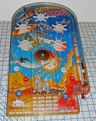 Vintage 1960s Wolverine Toy Operation Moon Probe Lithographed Pinball Bagatelle