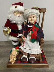 Vtg 1997 Telco Motionettes Mr Mrs Santa Claus Quiet Moments Animated Christmas