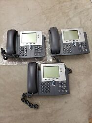 Lot Of 18 Used Cisco Cp-7942g Unified Ip Phone 7942