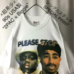 Usa Made 90s 2pac X Biggie East-west War Single T-shirt Size Xl F/s From Japan