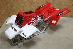 Yamaha Banshee Fenders + Gas Tank Plastic + Grill + Graphics White And Red 2009