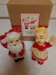 Retro Christmas Candles Gurley Style Santa And Mrs Claus W Box
