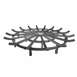 Titan Great Outdoors 40 Wagon Wheel Fire Grate, Decorative Wood Burning Lifted
