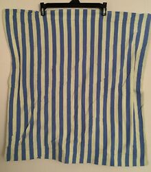 Company Store 100 Cotton Knit Blue/green Stripe Standard Size Pillow Cases 2