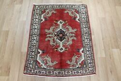 Antique North West Persian Rug 100 X 80 Cm Hand Knotted Oriental Wool Rug
