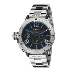 U-boat Sommerso Diver Blue Menand039s Automatic Watch Stainless Steel