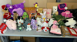 Lot Of 30 Aurora Plush Collection - Vintage 1990s Stuffed Animals Bears Dogs+