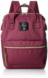 Anello Mini Backpack Wine Red Polyester Canvas Bag Unisex NEW from Japan $72.08