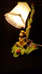 Hampton Bays Disney's Tinker Bell Tulip Lamp With Frosted Glass Tulip Shade