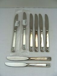 Towle Laureate Sterling Handle Stainless Blade 6 5/8 Inch Knife Lot Of 8