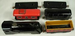 Made In Usa Wind Up Toy Train Set Steel And Tin Vintage Track Key