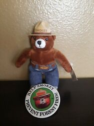 Vintage Smokey The Bear Plush Doll,wild Fire Fighter, And Large Cloth Pin