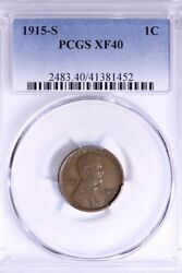 1915-s Lincoln Wheat Cent Penny Pcgs Xf40 Free Shipping 1-rmm