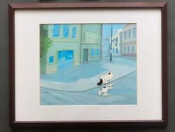 Peanuts Snoopy Snoopy With Certificate Cel Picture Framed Free Shipping From Jpn