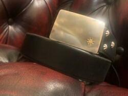 Goro's Black Belt With Square Silver Buckle 100x4 Cm Free Shipping From Japan