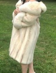 Winter Genuine Real Mink Fur Full-length Coat By Mano Swartz Made In Usa