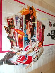 James Bond 007 Live And Let Die Movie Poster French Billboard 8 Panels 1973
