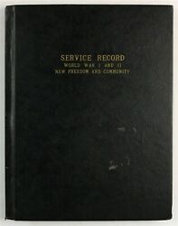 New Freedom, Pa York County Pennsylvania Wwii Service Record History Book