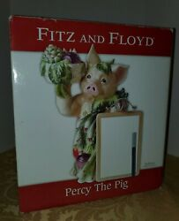 Fitz And Floyd Percy The Pig Collectible Figurine Whiteboard Pen 2005 Kitchen