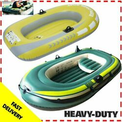 Heavy Duty 1/2/3 Person Inflatable Raft Dinghy Fishing Boat Kayak 250kg Load Us